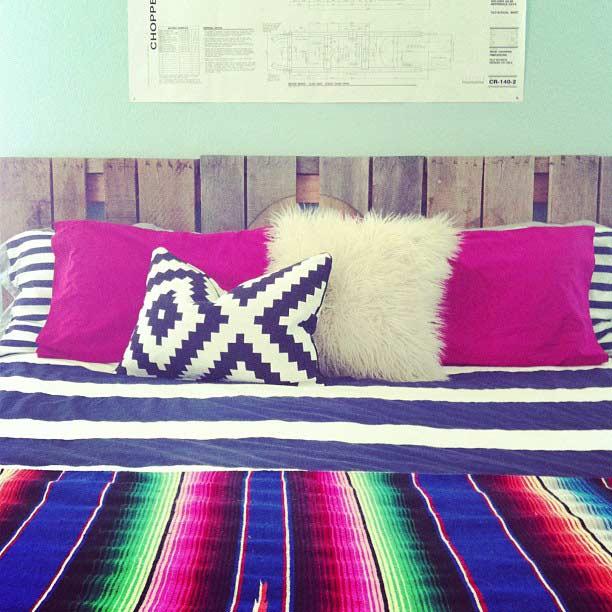 Uma opção simples para decorar o seu quarto de forma prática e barata