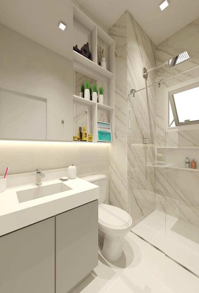 Para quem deseja um banheiro clean e moderno