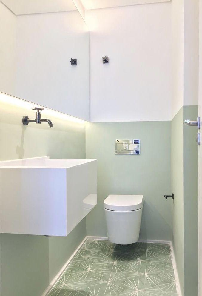 Escolha uma cor de preferência para decorar o banheiro