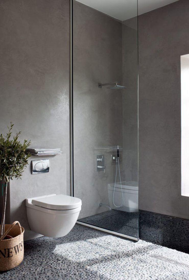 Piso para um banheiro contemporâneo