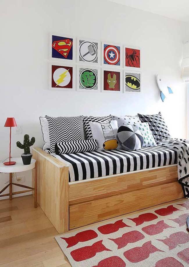 Quadros decorativos dos super heróis!
