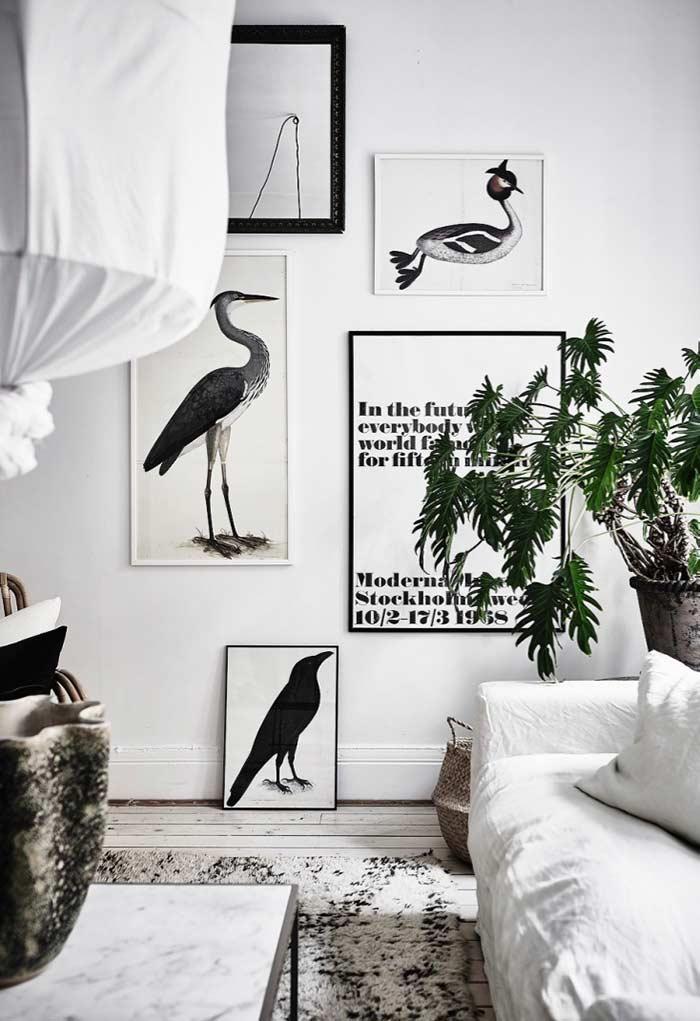 Quadros decorativos para decoração com estilo escandinavo