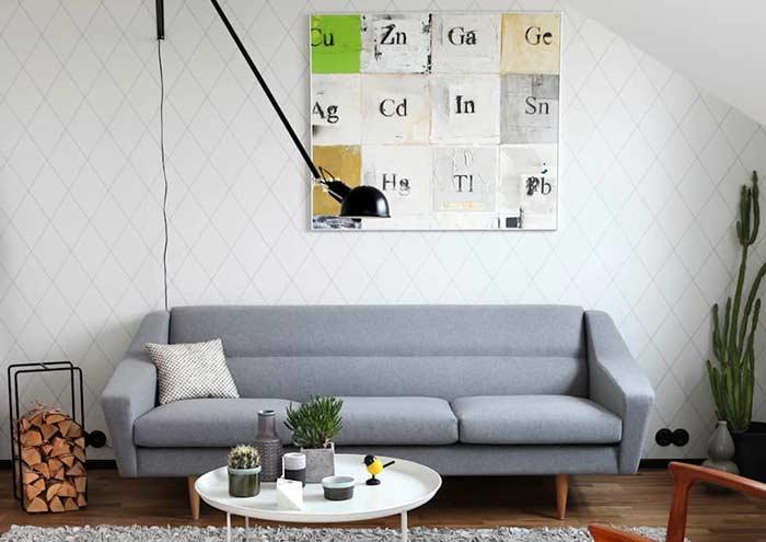 Quadro decorativo inspirado na tabela periódica