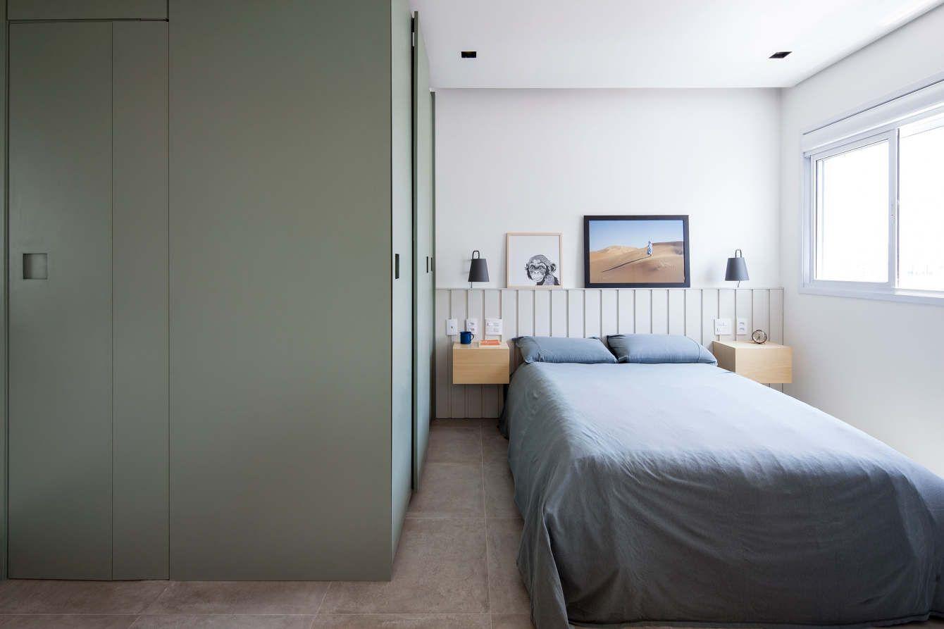 Monte um quarto com base em cores frias