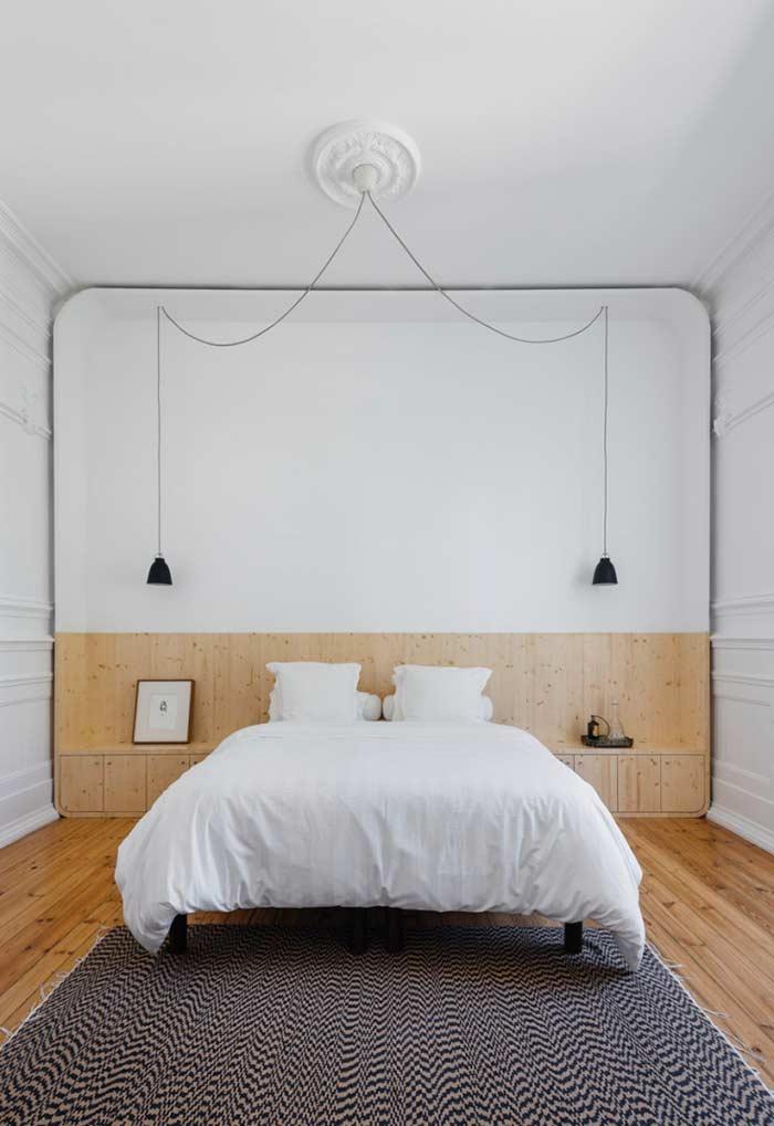 O minimalismo reforça um ambiente com poucos detalhes