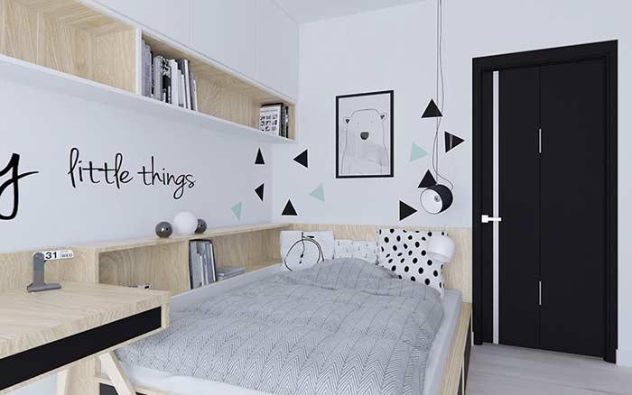 Se inspire no estilo escandinavo para decorar o quarto
