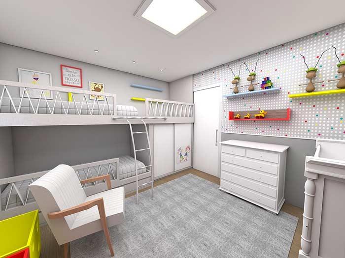 Quartos decorados 60 ideias fotos e projetos - Fotos de lofts decorados ...