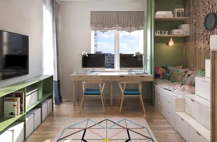 Tapete e cores que alegram quarto infantil