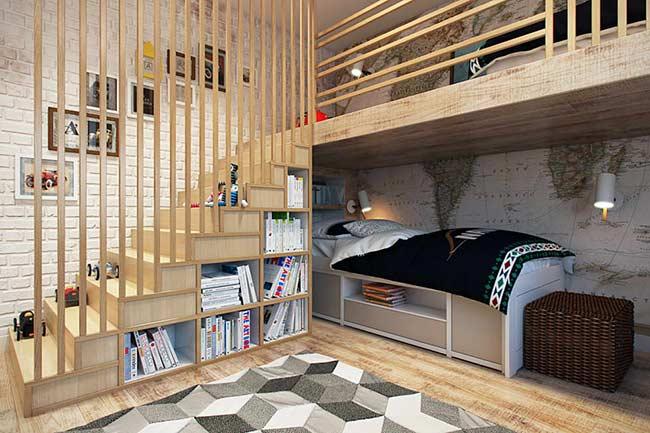Beliche que otimiza o espaço do dormitório