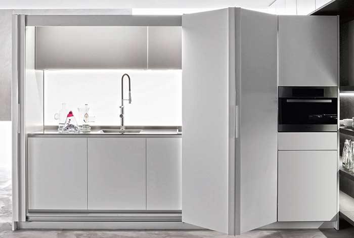 Cozinha clean inteira branca