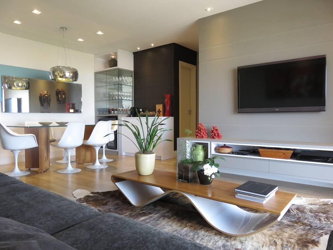 Sala pequena decorada 90 ideias fotos e projetos incr veis for Salas en l modernas