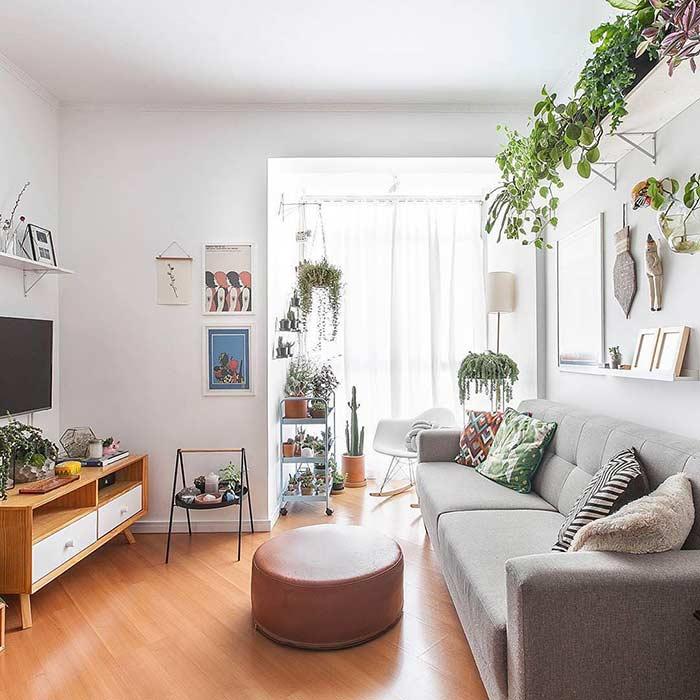 Com muito estilo e cuidado na escolha de plantas e vasos