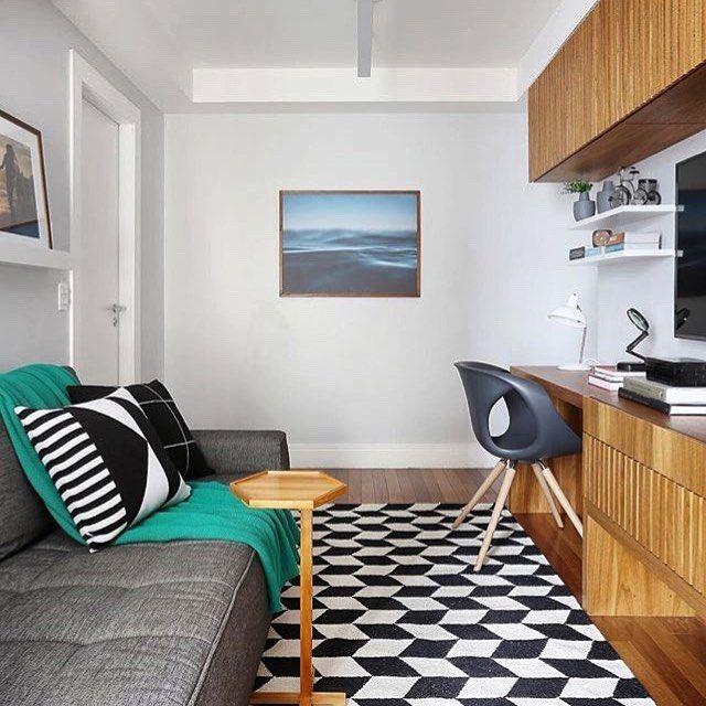 Escolha uma decoração moderna para a sala pequena decorada