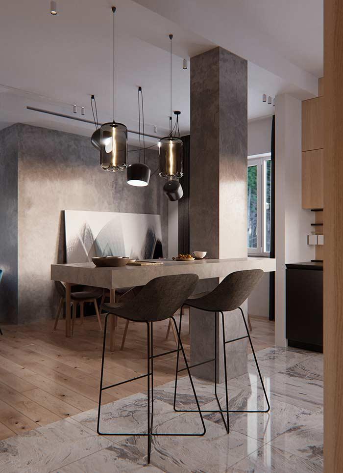Delimitando ambientes com pisos diferentes