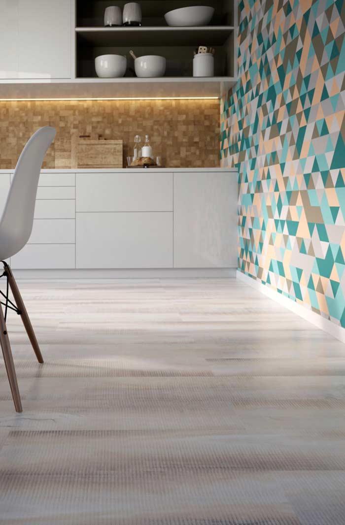 Toque texturizado do piso vinílico
