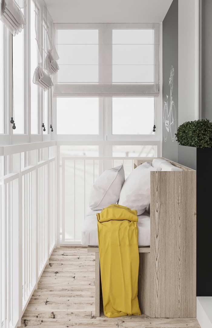 Proteção solar é recomendada para a varanda