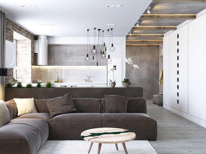 Apartamento com piso vinílico