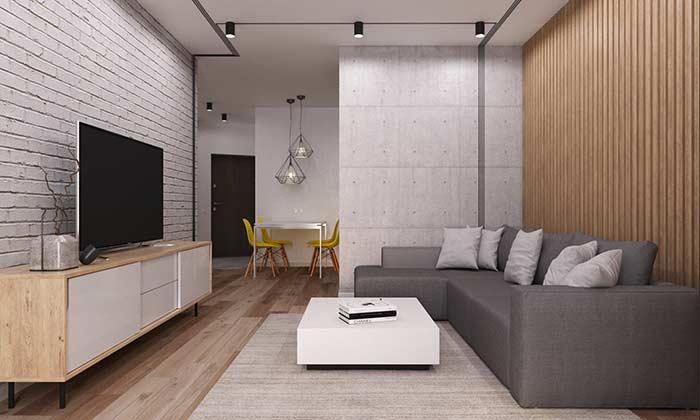 Combinação de materiais com piso vinílico
