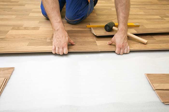 Instalação do piso vinílico
