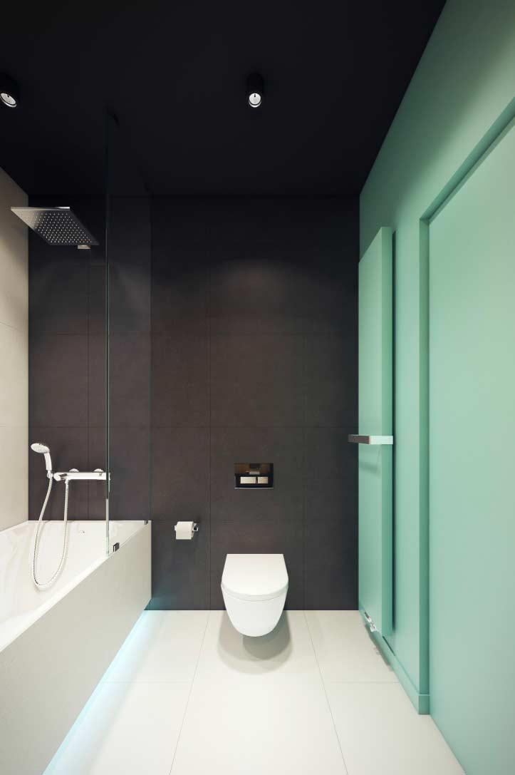 Aplique a cor em uma das paredes