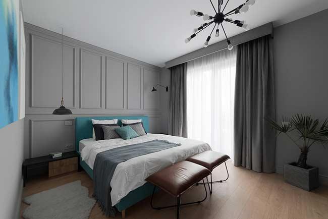 Aposte na cama azul Tiffany