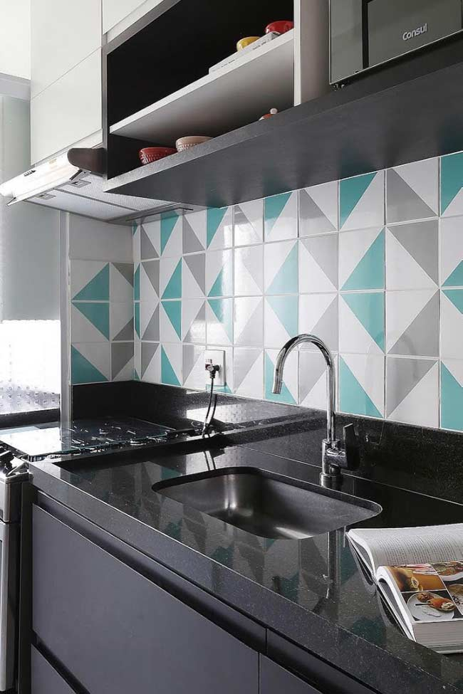 Azulejos azul Tiffany: tendência na decoração