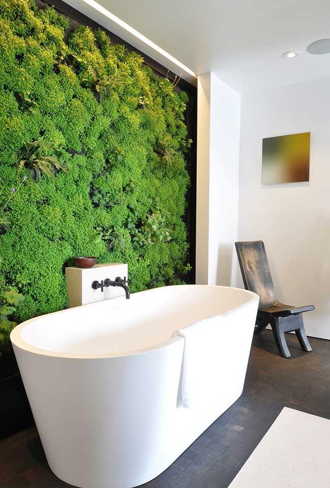 Um jardim vertical no seu banheiro