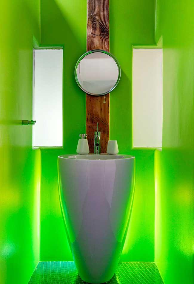 Luzes especiais no banheiro