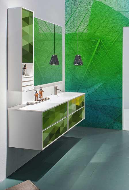 Impressão verde na parede