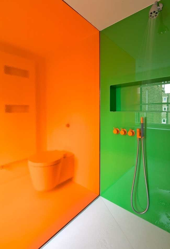 Verde e laranja para contraste de cores