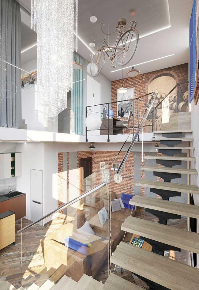 Apartamento com pegada industrial moderna