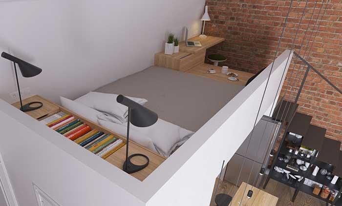 Dormitório no mezanino