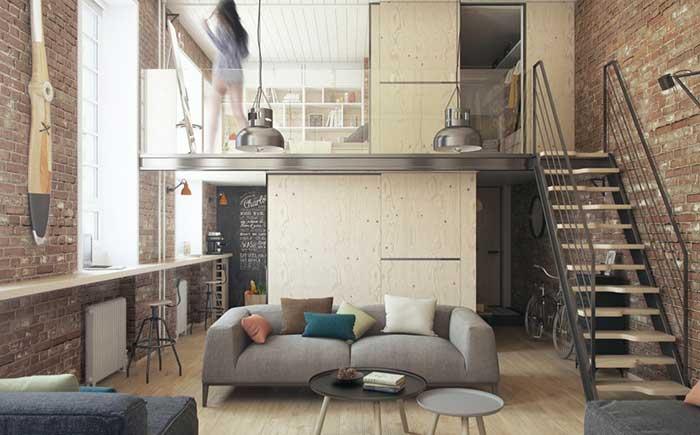 Mezanino com quarto e closet