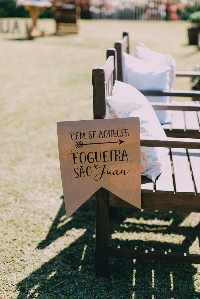 Plaquinhas personalizadas para festa junina