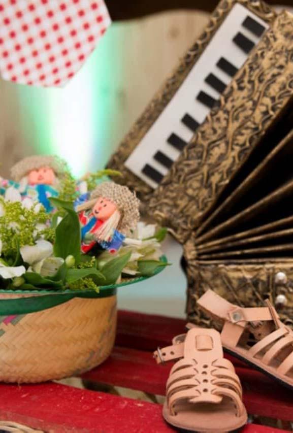 Detalhes da decoração da festa junina