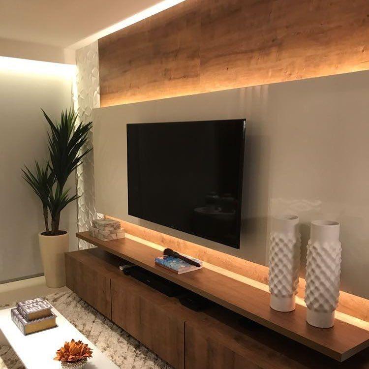 Sala De Tv Moderna E Simples.115 Salas De Tv Decoradas Com Fotos Para Te Inspirar