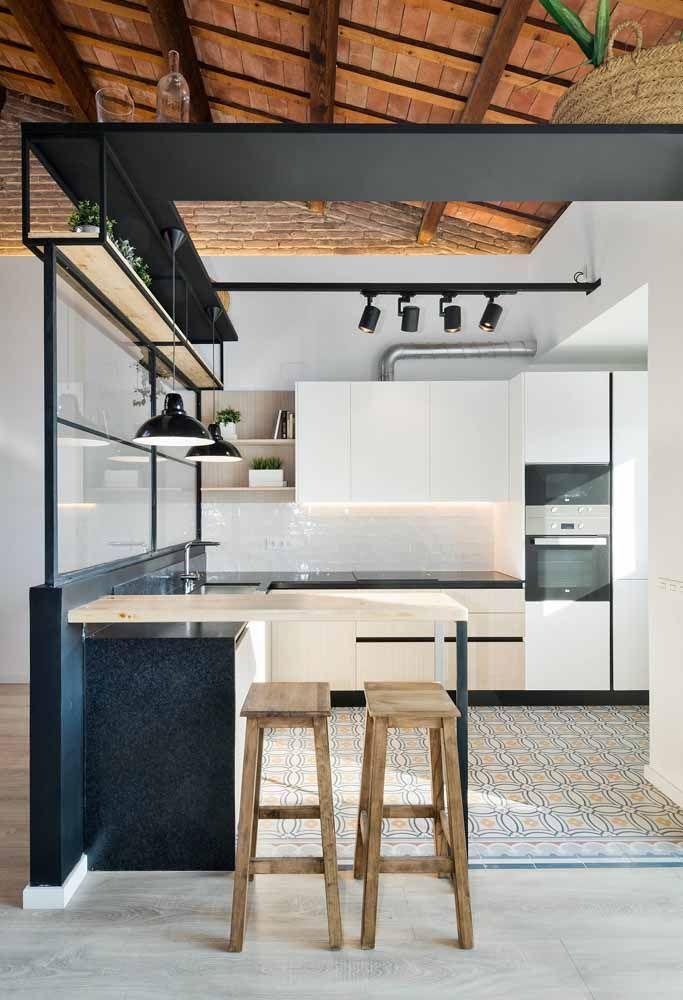 cozinha branca descubra 70 ideias com fotos inspiradoras. Black Bedroom Furniture Sets. Home Design Ideas