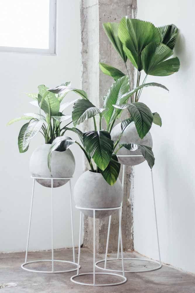 Se a decor industrial faz a sua cabeça, esse trio de vasos vai te deixar apaixonado