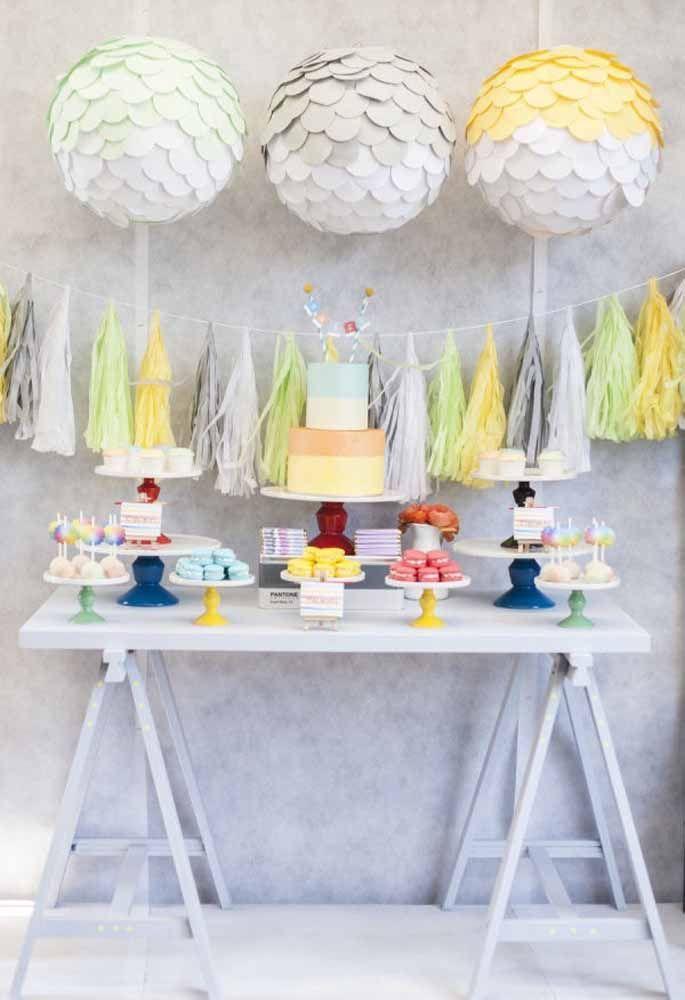 Pouco enfeite, mas bem colorido pode fazer a diferença na decoração de aniversário