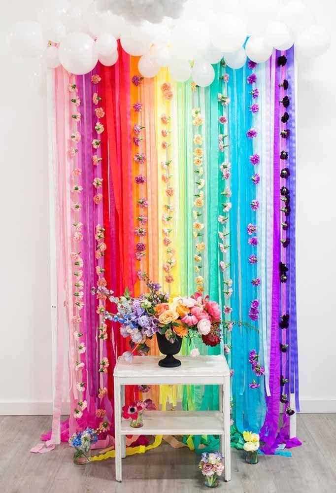 Você pode fazer uma decoração só com flores