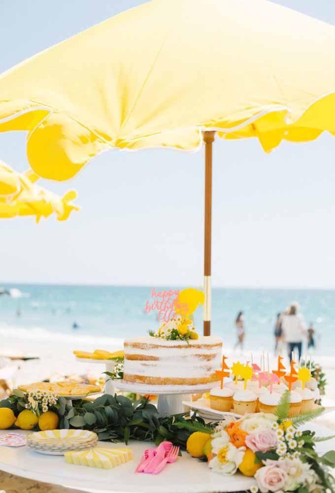 Faça uma mesa incrível na hora de comemorar o aniversário na praia