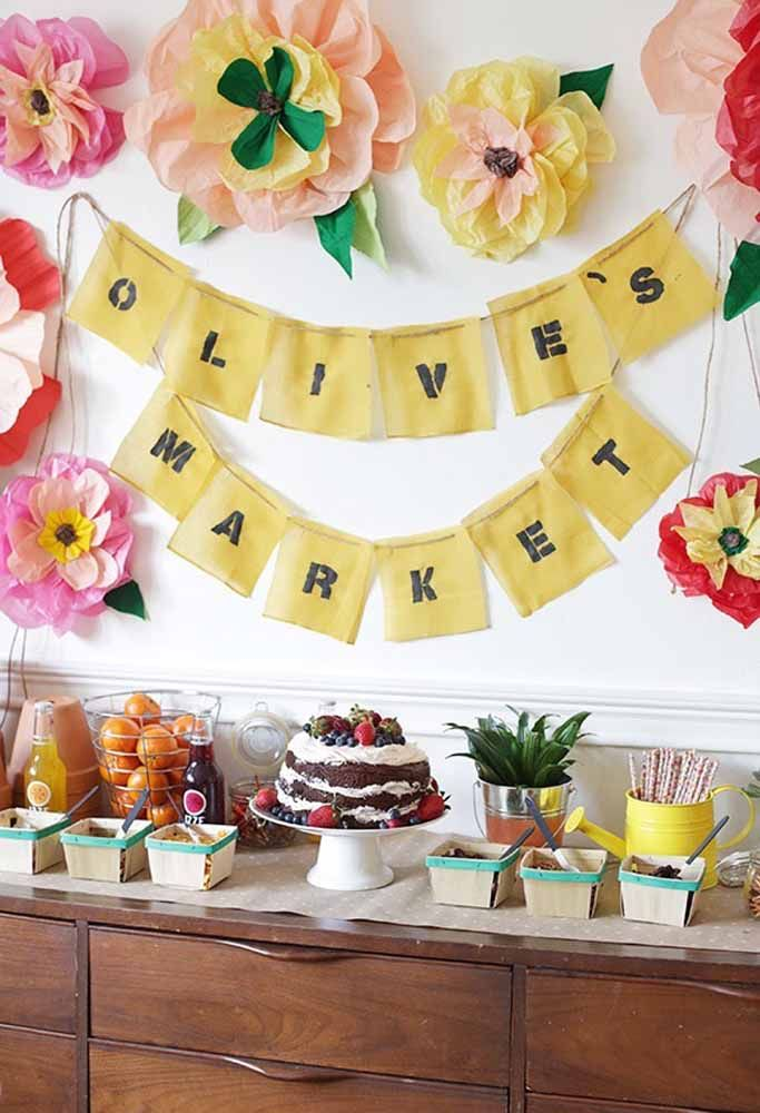 Faça um lindo painel para comemorar o aniversário