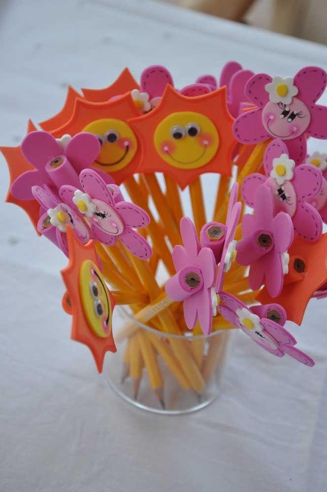 Ponteiras de lápis em EVA: ideia para vender ou presentear