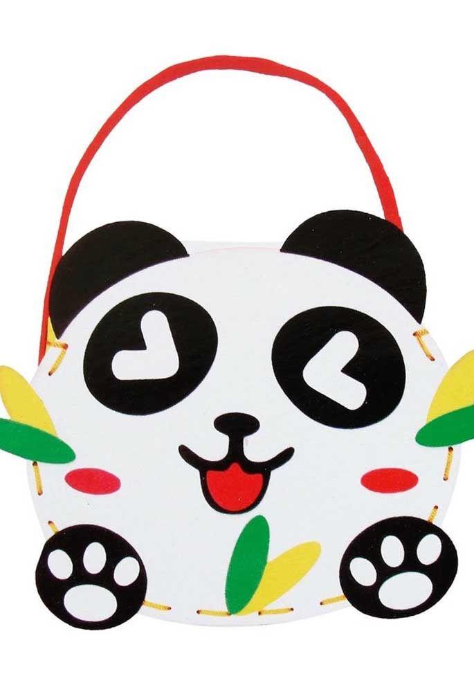 E agora com vocês um sorridente e simpático panda de EVA