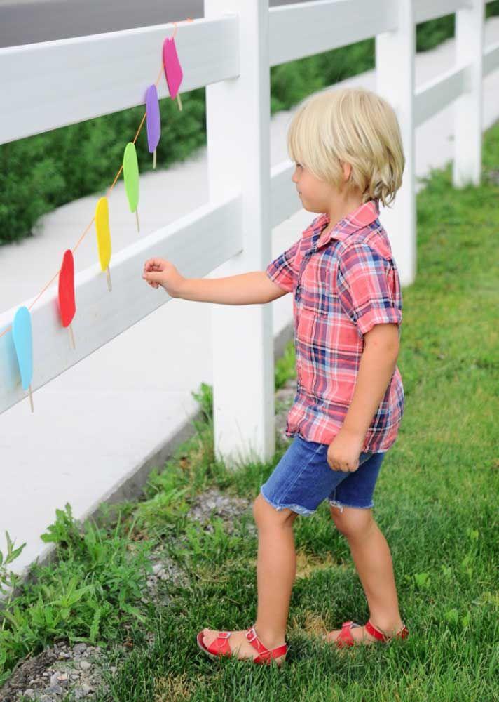 Sorvetes de EVA para decorar o quintal da casa