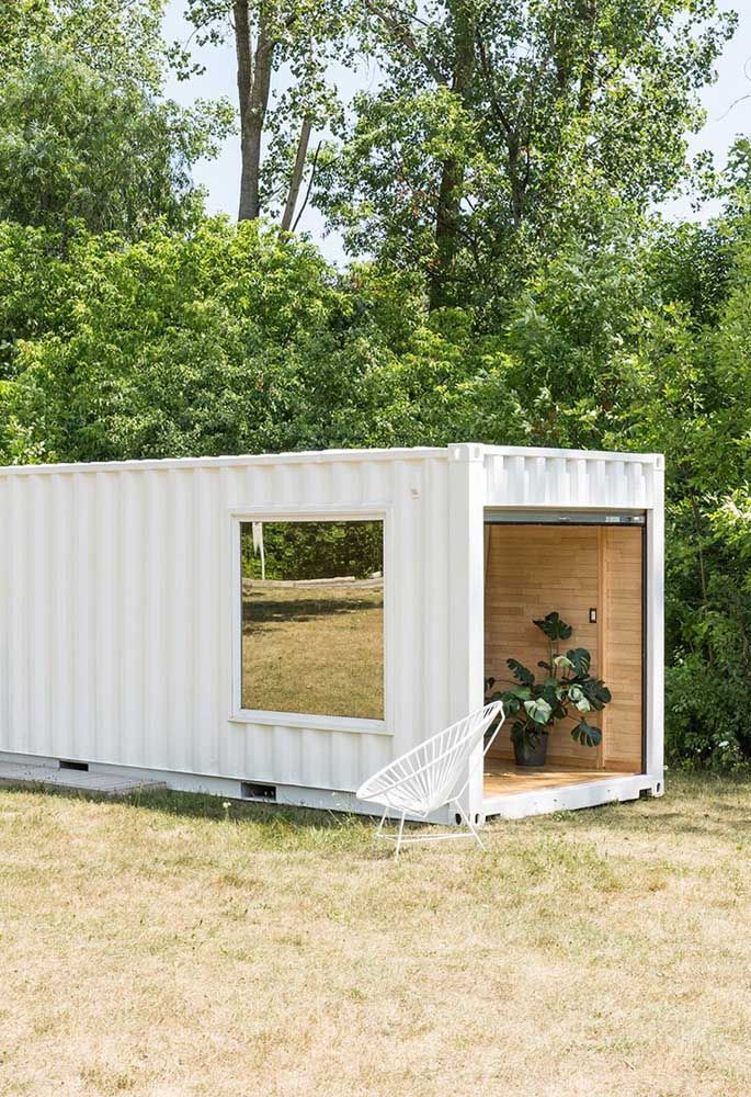 O mais interessante da casa container é que você pode instalá-la em qualquer lugar.