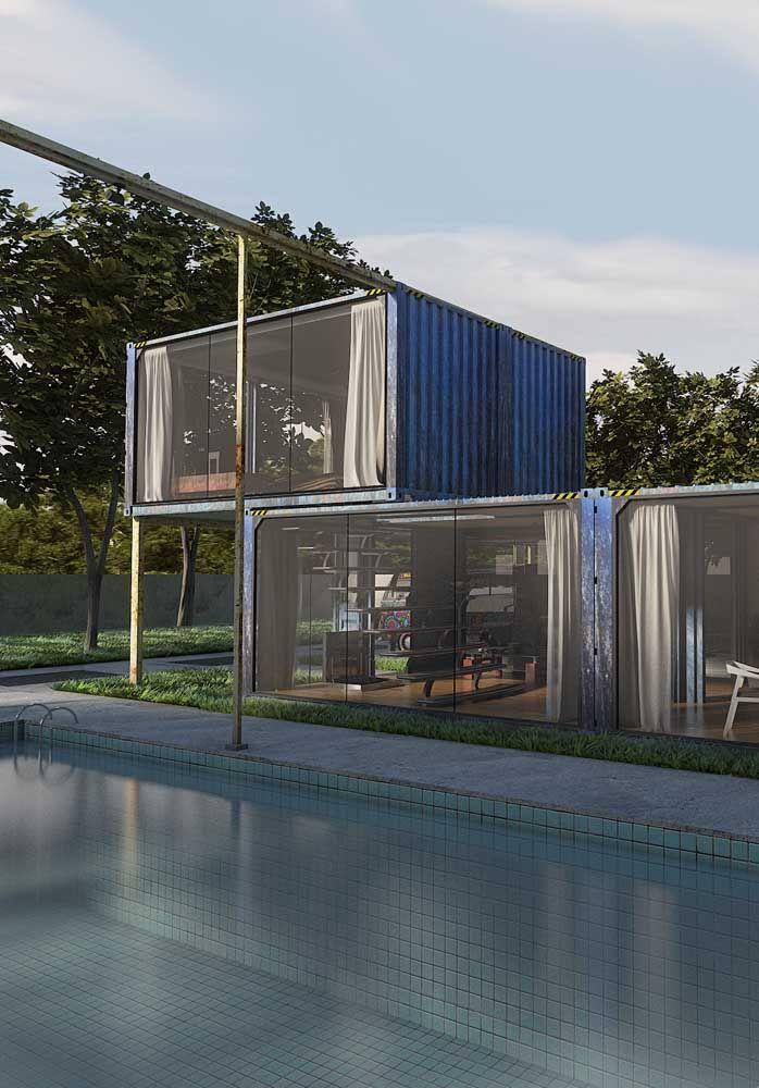 O que acha de construir uma casa container no quintal de casa ou dentro de um clube?