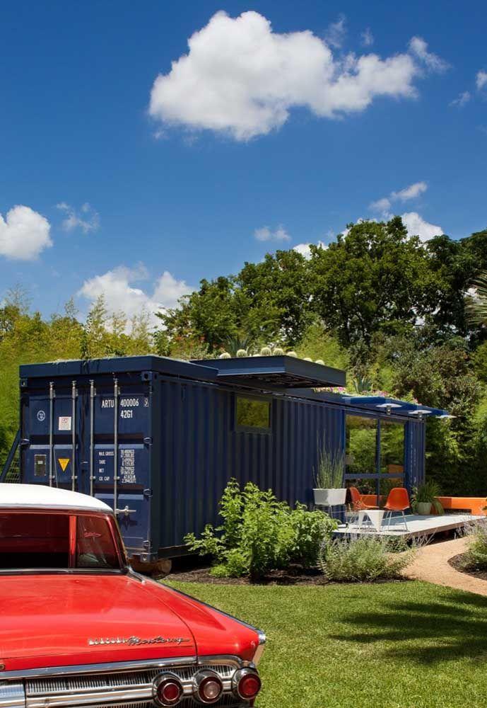 Com a casa container você pode ficar mais perto da natureza.