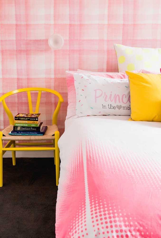 Para as meninas, faça uma combinação com as cores rosa e amarela.