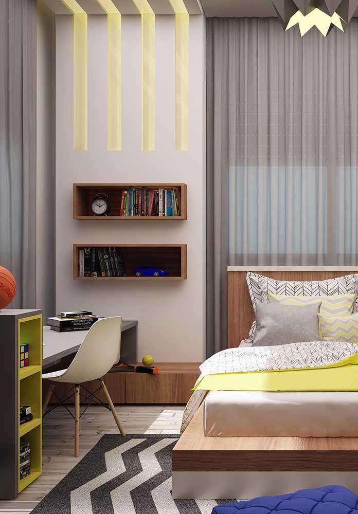 Se a intenção é fazer uma decoração neutra, a cor amarela é excelente para compor os móveis ou elementos decorativos.